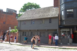Paul Revere's house.  My husband's grandmother grew up in the building to the right.