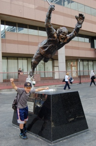 Outside the Boston Garden with #4 Bobby Orr.